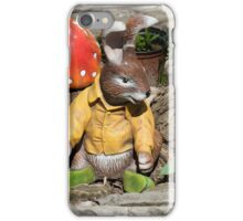 Funny easter bunny iPhone Case/Skin