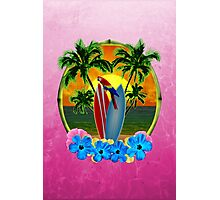 Tropical Sunset Pink Photographic Print