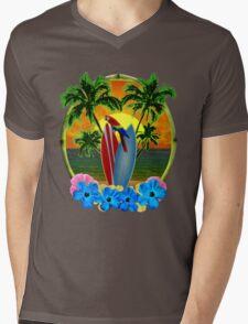 Tropical Sunset Mens V-Neck T-Shirt