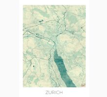 Zurich Map Blue Vintage Unisex T-Shirt