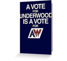 Underwood putting america to work Greeting Card