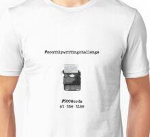 Monthly Writing Challenge (typewriter) Unisex T-Shirt