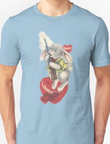 vintage valentine Bunny Cock Rifle T-Shirt