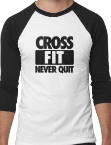 CROSS FIT NEVER QUIT Men's Baseball ¾ T-Shirt