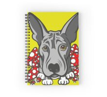 Wolf Dog Mushrooms  Spiral Notebook