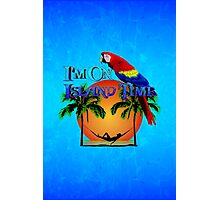 Island Time And Parrot Photographic Print