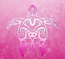 Pink Tribal Turtle by BailoutIsland