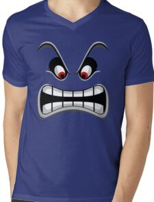 Thwomp face ! Mens V-Neck T-Shirt
