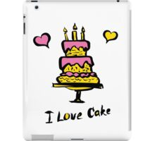 cake and the inscription I love cake iPad Case/Skin