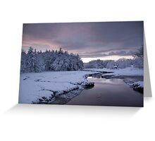 Snowy Sunset Greeting Card
