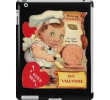 vintage valentine creepy butcher iPad Case/Skin