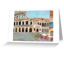View of the Coliseum, Rome Greeting Card