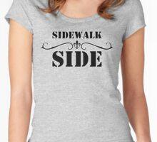 Mardi Gras - Sidewalk Side Women's Fitted Scoop T-Shirt