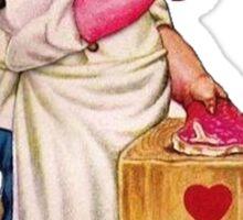 vintage valentine creepy butcher 2 Sticker