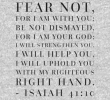 Isaiah 41:10 Bible Quote One Piece - Short Sleeve