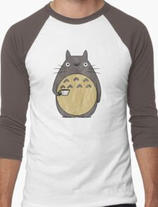 totoro coffee Men's Baseball ¾ T-Shirt