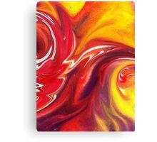 Hot Abstract Flames Decorative Art Canvas Print