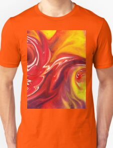 Hot Abstract Flames Decorative Art T-Shirt