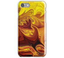 Yellow And Brown Flower Abstract  iPhone Case/Skin