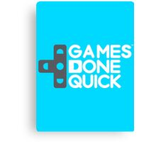 Games Done Quick (GDQ) Canvas Print