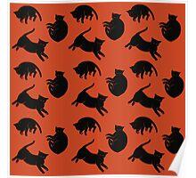 black kitties Poster