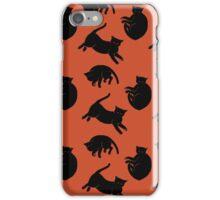 black kitties iPhone Case/Skin