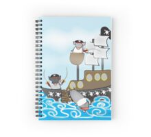 Rubbity Dub...three pirate pigs in a tub Spiral Notebook
