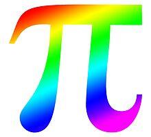 Pi (rainbow) by PingusTees