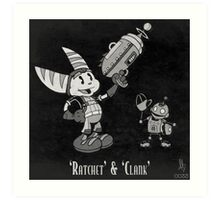 0033 - Retro Ratchet & Clank Art Print
