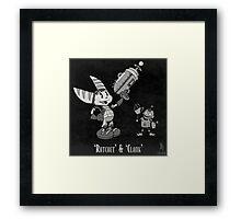 0033 - Retro Ratchet & Clank Framed Print