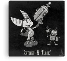 0033 - Retro Ratchet & Clank Canvas Print