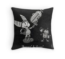 0033 - Retro Ratchet & Clank Throw Pillow