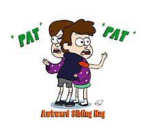 Awkward Sibling Hug (Gravity Falls) Photographic Print
