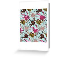 Thistle pattern Greeting Card