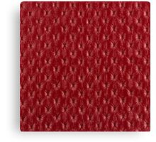 Red leather texture closeup Canvas Print