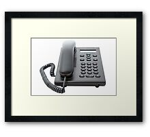 VoIP Phone with LCD Display Framed Print