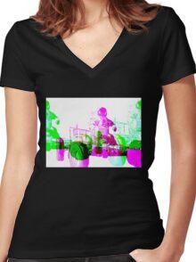 Lunar Rover Hologram Women's Fitted V-Neck T-Shirt