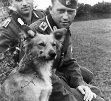 WW2 German RAD admiring their dog by Obama666