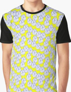Houses motive on a yellow background Graphic T-Shirt
