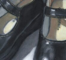 Little Black Shoes: Still Life Painting, Oil Pastel Sticker