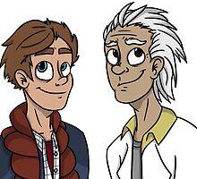 Doc and Marty by baileykilljoy