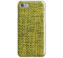 Green fabric texture iPhone Case/Skin