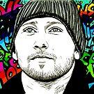 Matthias Schoenaerts graffiti style by jos2507