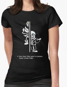 Undertale Sans & Papyrus Womens Fitted T-Shirt
