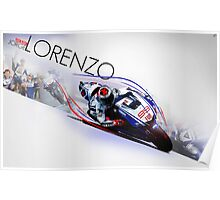 Jorge Lorenzo in action Poster