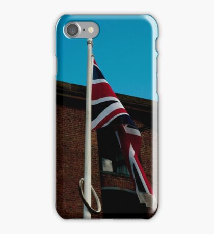 United Kingdom flag pole. iPhone Case/Skin