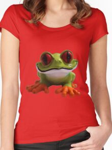 Cute Froggy 4 Women's Fitted Scoop T-Shirt