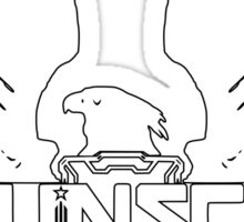 U.N.S.C. Insignia, 343i Redesign (White Logo) Sticker