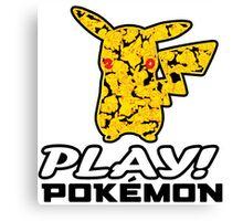 "Pokemon 20th Year Anniversary pikachu ""PLAY POKEMON"" Canvas Print"