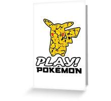 "Pokemon 20th Year Anniversary pikachu ""PLAY POKEMON"" Greeting Card"